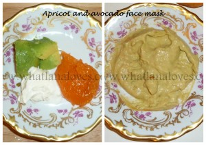 Apricot and avocado mask