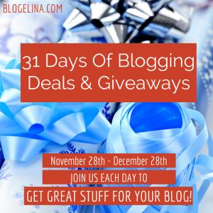 31 Days Of Blogging Giveaways